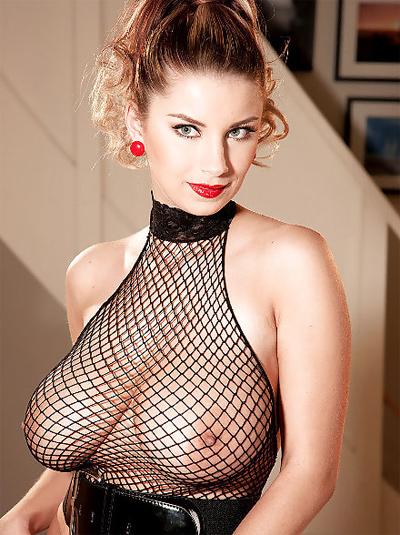 Katarina Dubrova Big Tits In Fishnet Top